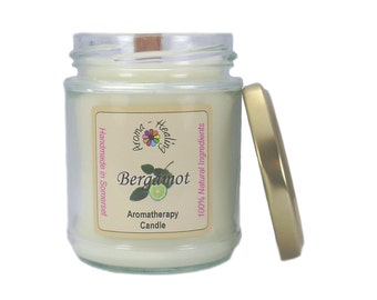 Bergamot Natural wax Candle   Natural Soy Wax Candles   Candles in a Jar   Jar Candles   Best Aromatherapy Candles