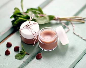 Natural Flavored Lip Balm-Mint Chocolate