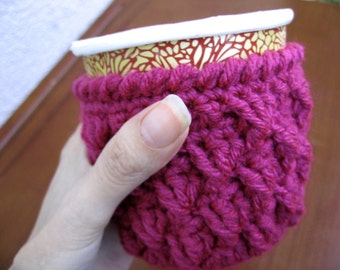 Berry color pint ice cream cozy, crochet ice cream insolator, get well gift