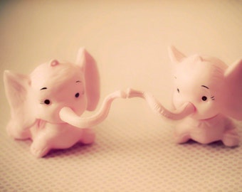 Pink Elephants -8x10 photograph - fine art print - plastic toys - nursery room - children's art