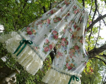 "Bloomers, Womens  PLUS SIZE !   Shabby Chic,  Mori Girl, Magnolia,  Free  Size,  ( 46"" In. Waist,  52"" In"" Hips  )      I Accept  Pay-Pal"