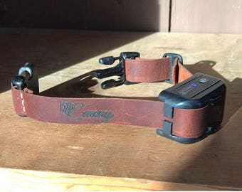 Electric Replacement Dog Collar; Genuine Leather by Emeny
