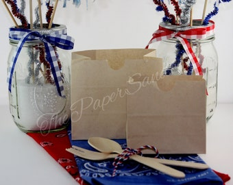 Small Paper Bags, Grease Resistant, Country Wedding, Rustic Wedding, I Do BBQ