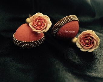 Handmade polymer clay jhumka/ jhumki earrings