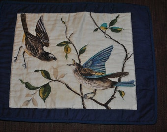 Small Wall Quilt of Birds on Tree #2