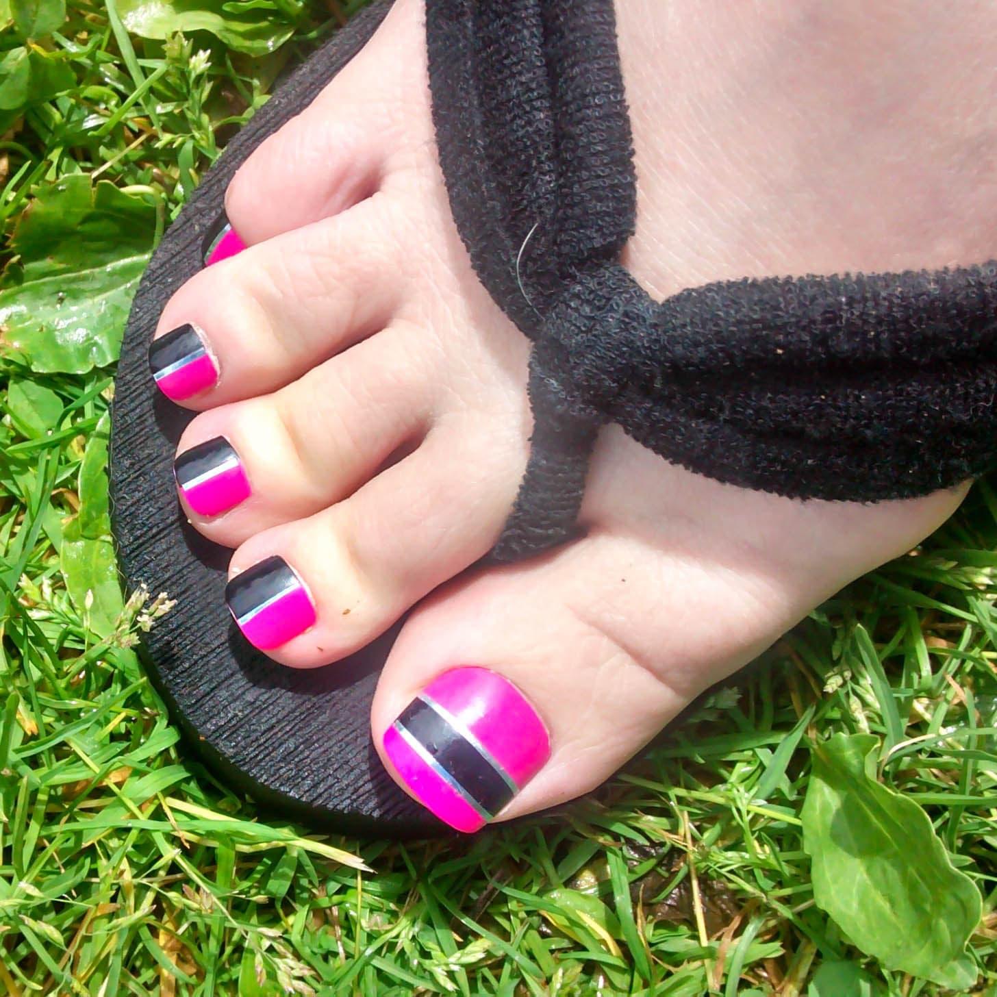Hot Pink Fake Toenails Toenails Toe Nail Press on Acrylic