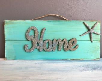 Home Decor, Decoration, Home, Beach Decor, Coastal Decor, Wood Sign