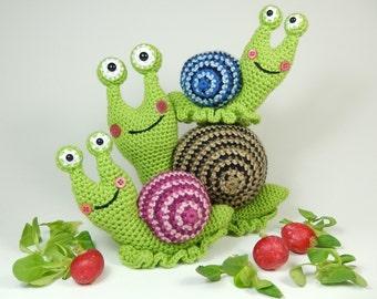 Shelley the Snail and Family - Amigurumi Crochet Pattern