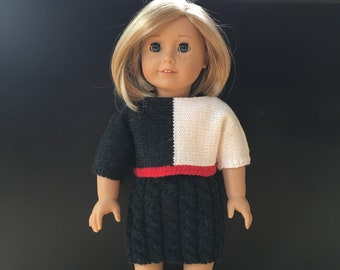 Outfit for 18 inch doll; doll clothes; handmade doll clothes; AG doll clothes; 18 inch doll clothes; knitted doll clothes; 18 inch doll