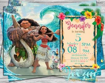 Moana Birthday Invitation | Princess Moana Birthday | Disney Moana | Disney | Moana Birthday | Moana Party
