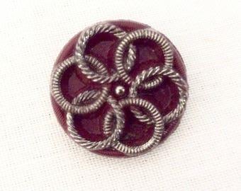 Art Deco Button, Antique Glass Buttons, Vintage Buttons, Czech Glass Buttons, Glass Button, Red Glass Buttons, Button Vintage, Buttons Glass
