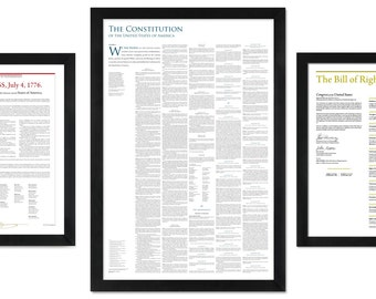 America's Founding Documents: Declaration of Independence + Constitution + Bill of Rights (digital downloads)