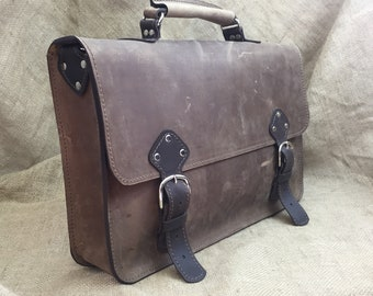 Men's Leather Briefcase, Messenger Bag, Leather Laptop Bag, Leather Satchel, Father's Day Gifts for Dad, 3rd Anniversary Wedding Gift