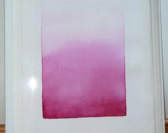 Degradé watercolor in magenta