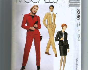 McCall's Misses' Lined or Unlined Jacket, Skirt and Pants Pattern 8360