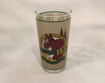 Vintage Kentucky Derby glass cup - 1987