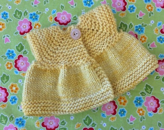Sweater for 15/16-inch Waldorf Doll  Hand Knit Cardigan Sweater for Waldorf Dolls  **Pollen**