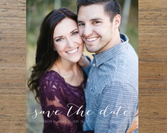 Printable Save the Date, Lettered Save the Date, Photo Save the Date, Wedding Save the Dates, Picture, Photo, Lettered