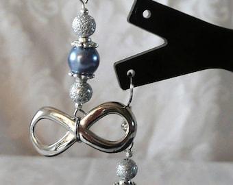 Earrings silver infinity earrings 5.5 cm