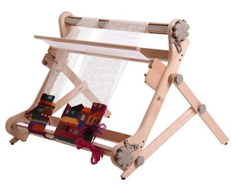 Ashford table Stand for Rigid Heddle weave tapestries with your rigid heddle loom