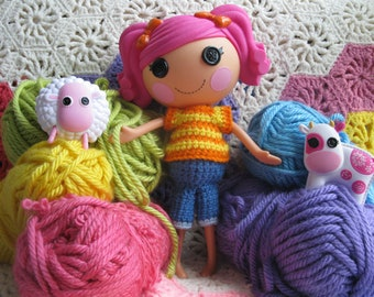 Crochet Pattern for Lalaloopsy Doll Clothes T-Shirt and Capris PDF Instant Download