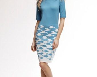 SEA & SKY Baby Blue Merino Wool Knitted Dress