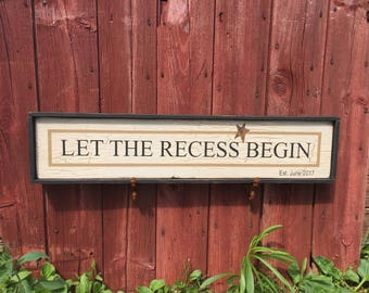 Primitive Sign for Teacher's retirement