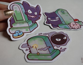 ghost pokemon graveyard stickers