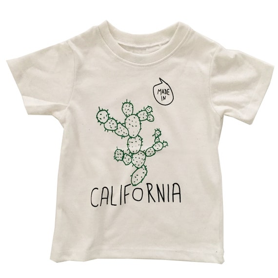 MADE IN CALIFORNIA Cactus Toddler Tee - White or Gray