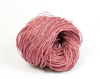 Paper Yarn - Paper Twine: Dusty Pink - Knit, Crochet, Textile Arts, DIY Supply, Gift Wrap, Weave - Washable and Eco-Friendly