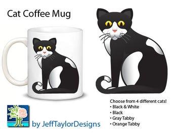 Cat Coffee Mug (4 Choices)