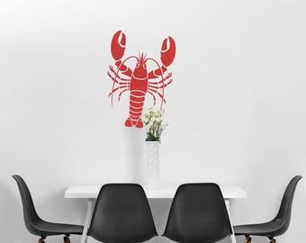 Lobster Wall Stencil - Reusable stencils even better than wall decal