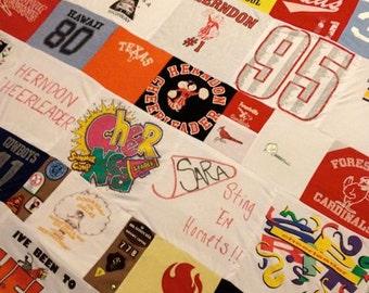 Girl Scout Tshirt Memory Blanket Quilt Childs Memories kept Custom FOR HER