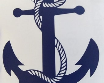 Anchor with rope, decal only