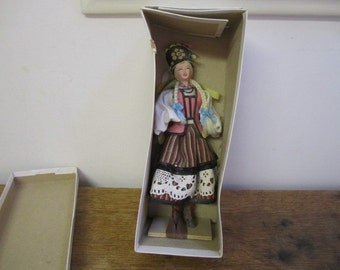 Polish Doll - Kurpianka Zielona. Polish National Costume Doll. New in Original box.
