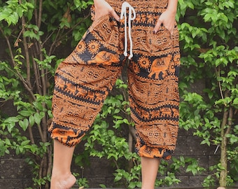 Thai Elephant Pants Thai Clothing Boho Clothing Harem Pants Thai Harem Pants Bohemian Pants