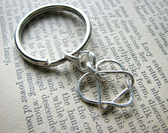 Celtic Adoption Triad Pendant Split Ring Keychain Keyring - Gift Dad Father Grandfather Brother Step-Dad Male