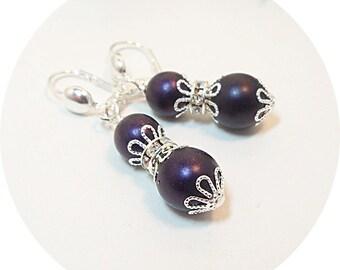 Purple Earrings, Bridesmaid Earrings, Bridal Party, Deep Purple Earrings, Bridal Accessories, Wedding Accessories, Bridesmaid Gift, Lapis