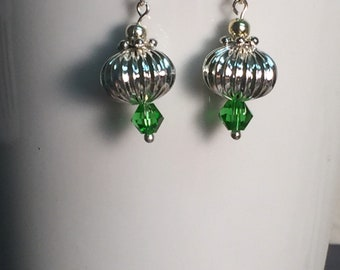 Holiday style earrings.