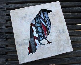 Crow Reclaimed Hockey Stick Shadow Box