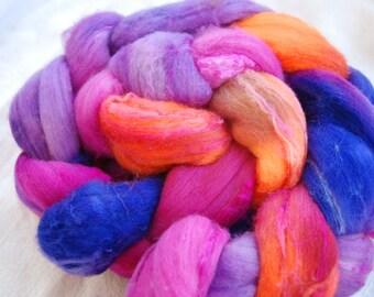 Top handdyed Merino/ Silk 60/40, 3,5 oz, colour Sommerblumen