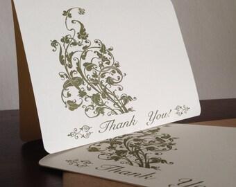 Filigrane danken Ihnen Karten, Bildschirm gedruckt 50-Pack Grußkarten