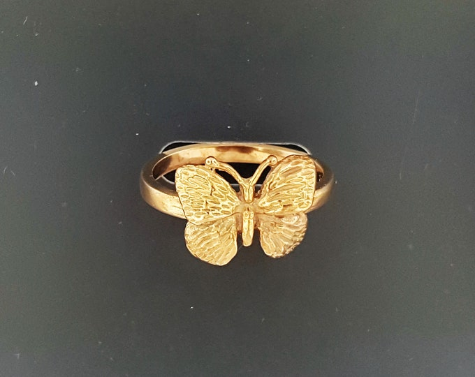 Vintage Style Butterfly Ring in Antique Bronze