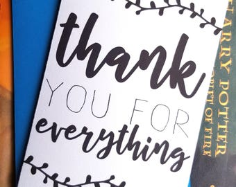 Thank You for Everything Card with Matching Envelope