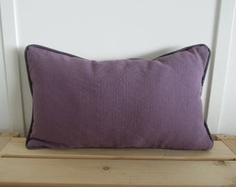 Violet Pillow Covers, 12x20, Lumbar Pillow, Purple and Gray Pillow Covers, Lilac, Lavender, Grey, Toss Cushions, Linen Pillow Cover