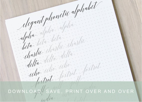 Intermediate elegant modern calligraphy worksheets calligraphy