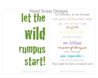Children's Book Quotes No. 1 - 5x7 - Set of 10 Printables