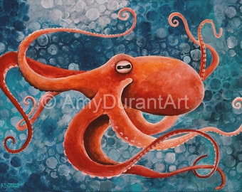 Octopus professional print - Choice of 2 sizes