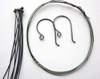 Oxidized Sterling Silver Earring Kit