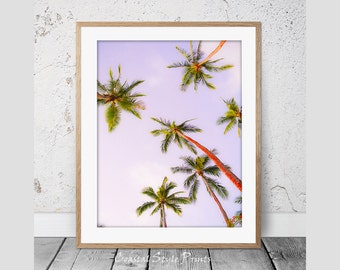 Palm Tree Print #2 Tropical Print Wall Art Palm Trees Print Palm Print Coastal Art Botanical Poster Palm Photography Instant Download 114b
